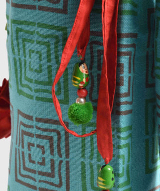 cotton yoga mat cover of green color by unnaticraft