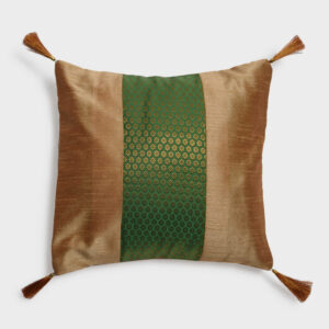 Cushion Cover – Gold/Moss Green