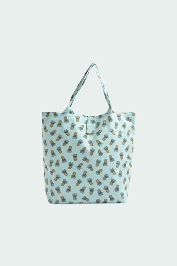 cotton printed teal color lunch bag by unnaticraft