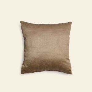 Pure silk gold scarlet color cushion cover by unnaticraft