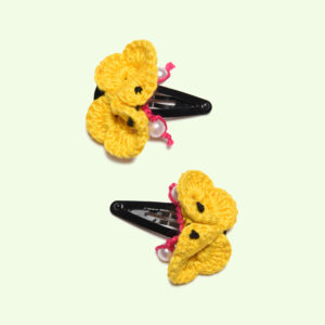 Flower Hairclips (Yellow)
