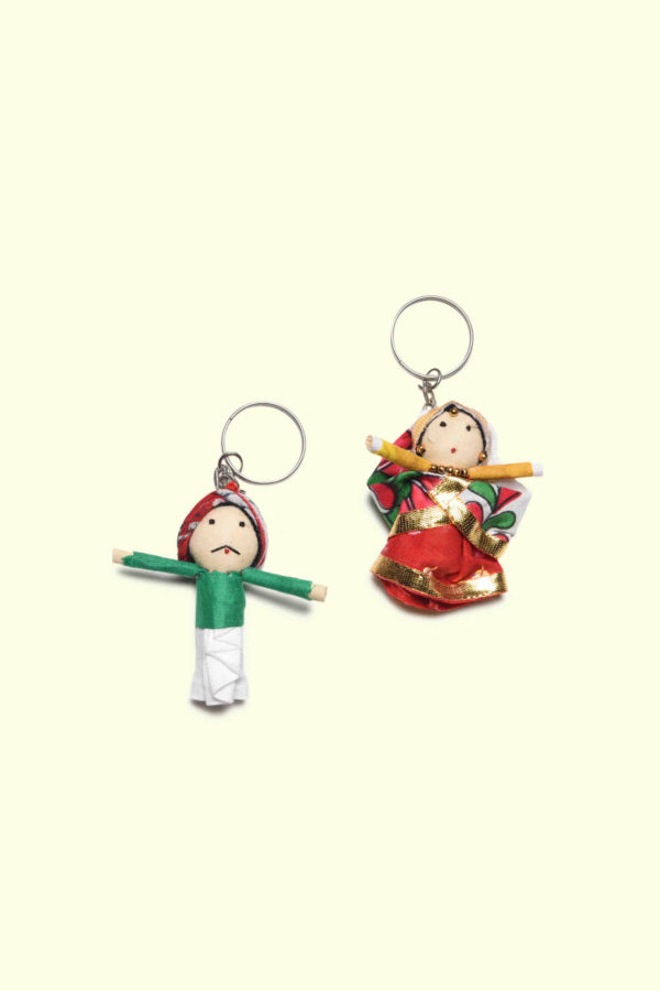 handcrafted doll keychains from unnati haryana craft